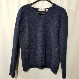Carolyn Taylor wool blend blue sweater